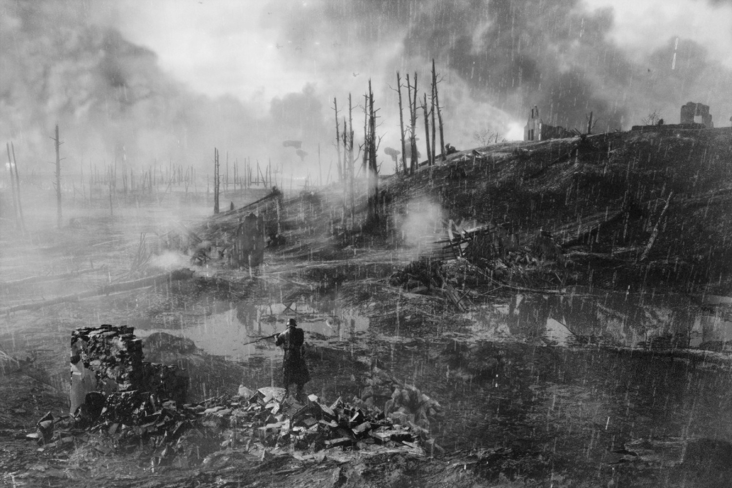Battlefield 1 Screens Look Hauntingly Realistic With Black & White Filter DSPY38c