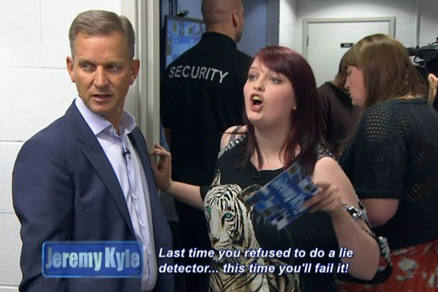 Last time you refused to do a lie detector this time youll fail it 3 1 Jeremy Kyle Guest Dragged Away By Security After Getting Violent