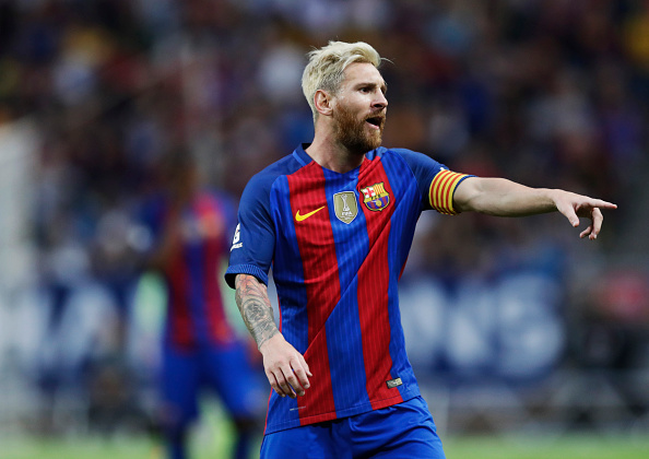 Messi Getty Messi Fanboy Brutally Taken Out By Massive Security Guard