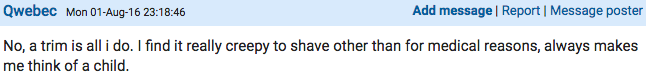 Screen Shot 2016 08 03 at 11.12.15 Woman Starts Very Heated Debate On Mumsnet About Shaving Down There