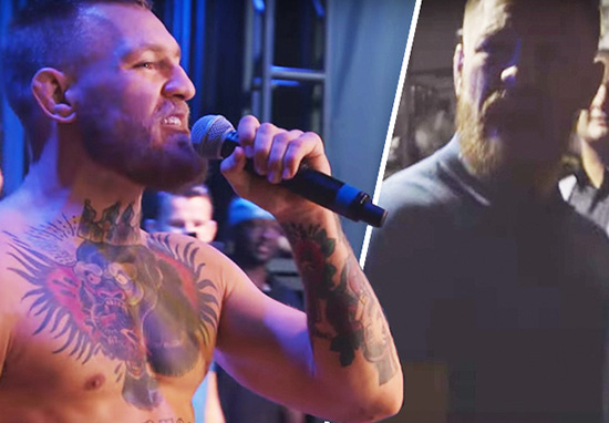 con1 Watch Conor McGregor Lose His Sh*t Backstage After Diaz Walk Off