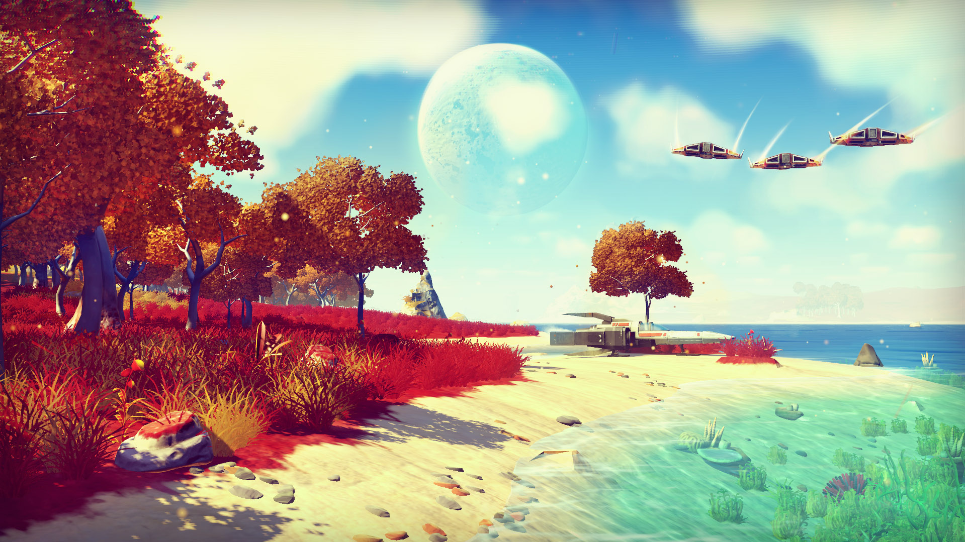 no mans sky screen1.0 Check Out No Mans Skys Awesome Launch Trailer