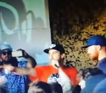Battle Rapper Knocked Out By Crowd Member After Mum Joke rapp 2