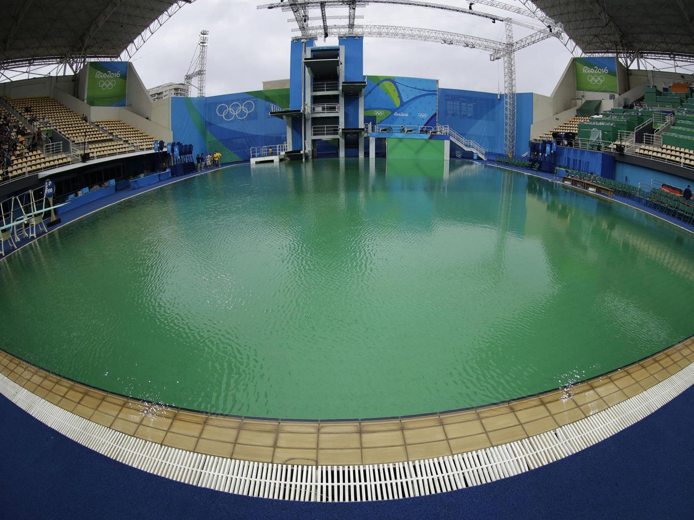 Organisers Finally Reveal Why The Olympic Swimming Pool Turned Green rio pool