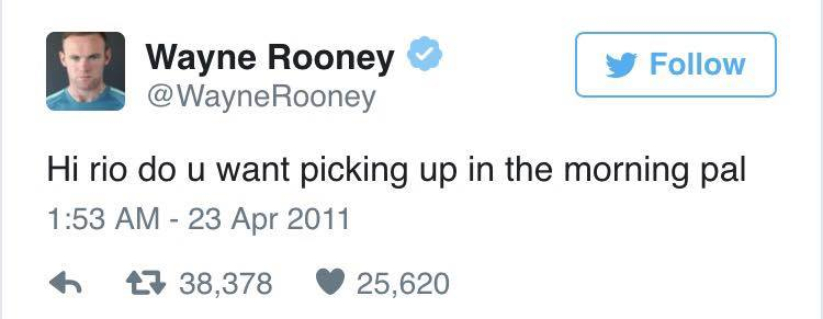 rooney rio Wayne Rooney Ripped To Shreds After Liking Very NSFW Tweet
