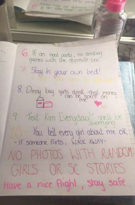 rules2 Guys Girlfriend Issues Hilarious Rulebook For Magaluf Lads Holiday