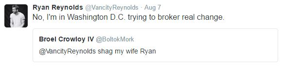 Its Impossible To Gross Out Ryan Reynolds On Twitter It Seems ryan tweet 3
