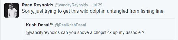 Its Impossible To Gross Out Ryan Reynolds On Twitter It Seems ryan tweet 6