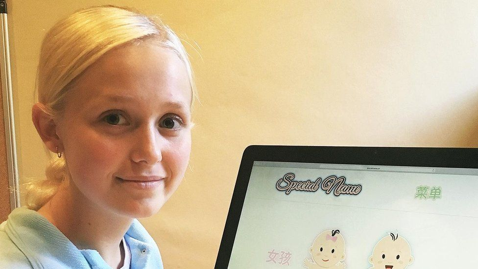 Beau Jessup SN 16 Year Old Girl Earns £50k Helping Chinese Parents Name Babies