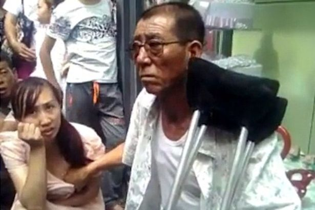 Chinese man predicts future by touching womans breasts Chinese Mystic Touches Womans Breasts To Predict The Future