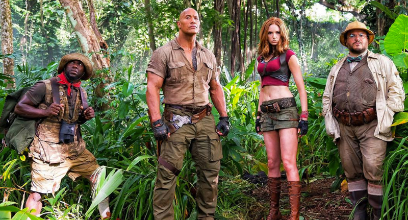 Dwayne Johnson Looks Like A Real Life Mountain In Jumanji Reboot JumanjiFB