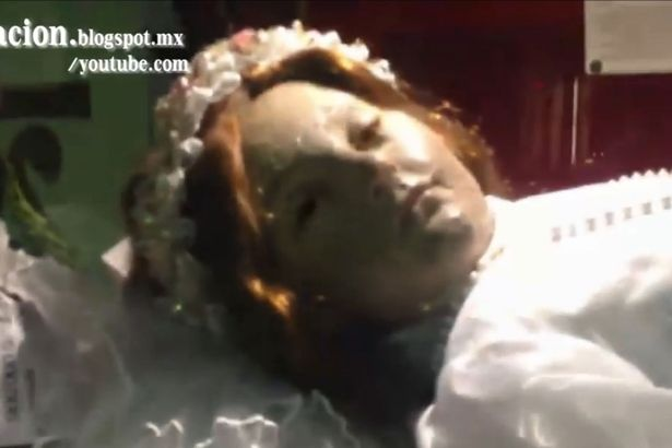 Moment long dead corpse of child saint Santa Inocencia opens its eyes Terrifying Moment Corpse Of Child Saint Opens Her Eyes