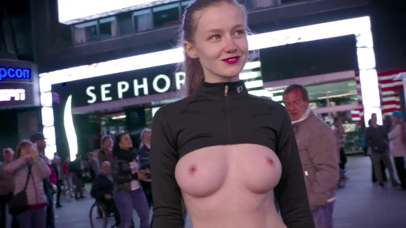adfa 1 People Dont Know How To React To Topless Model Walking Through NYC