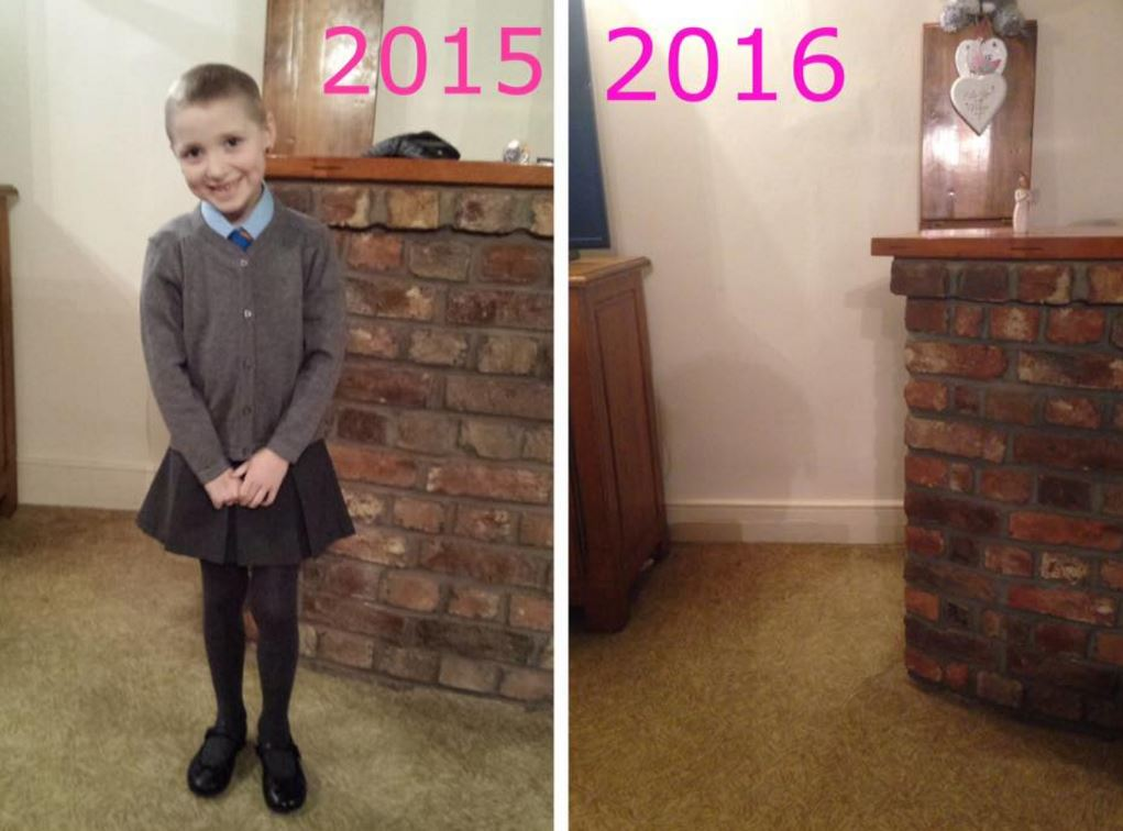 cancer 1 Mum Shares Heartbreaking School Photo To Raise Awareness Of Childhood Cancer