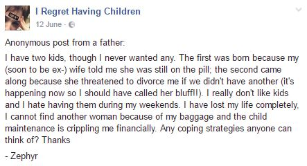 Parents Reveal Why They Regret Having Children comment 4