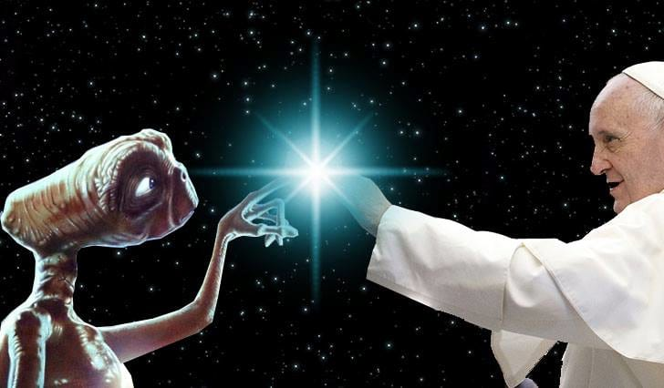 NASA Astronauts Leaked Emails Reveal Pope Knows Aliens Exist 10482UNILAD imageoptim pope