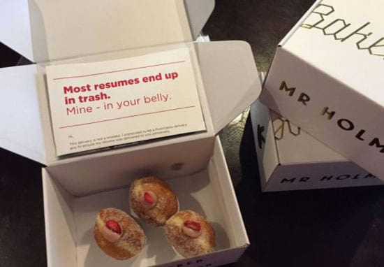 This Guy Hides His CV In Doughnuts So People Actually Read it