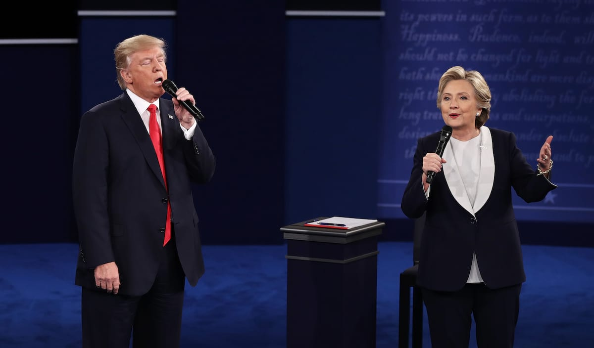 28801UNILAD imageoptim GettyImages 613699898 An Absolute Genius Edited Trump And Hillary Debate Into A Romantic Duet