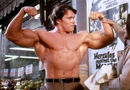 If You Can't Build Muscle, Try This Old School Arnold Schwarzenegger Trick