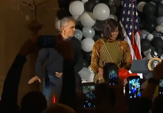 Obama Breaks Out The Dad Dancing To Michael Jackson's Thriller