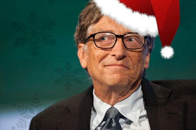 Bill Gates Gives The Greatest Secret Santa Gifts Ever