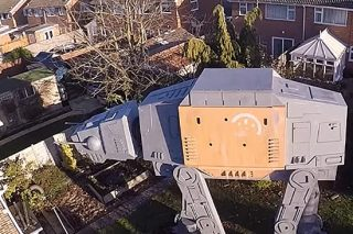 Absolute Lunatic Builds Massive AT-AT Hideout In His Garden