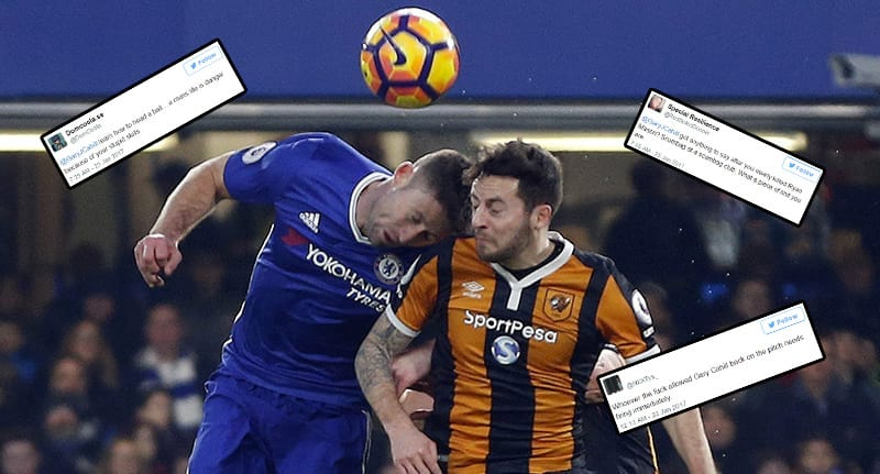 Vile Trolls Abuse Gary Cahill On Twitter After Head Clash With Ryan ... Funny Football Trolls 2017