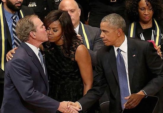 Hilarious Theory Suggests George Bush Has Been Trying It On With Michelle Obama