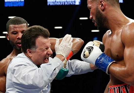 Badou Jack Accidentally Smashes Referee With Brutal Punch