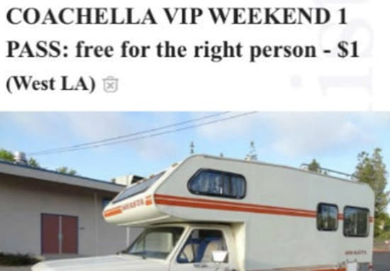 This Guy Is Offering Free Coachella Tickets If You Agree To His Creepy Demands