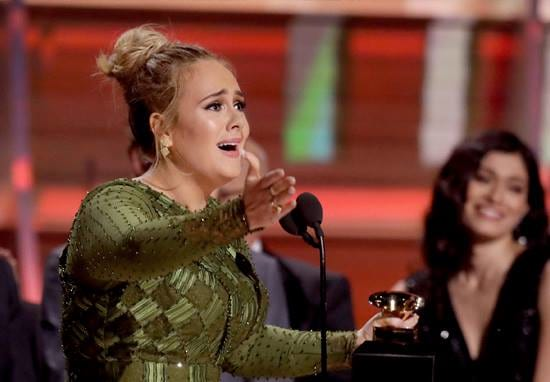 Adele Accidentally Makes Huge Confession During Grammys Acceptance Speech