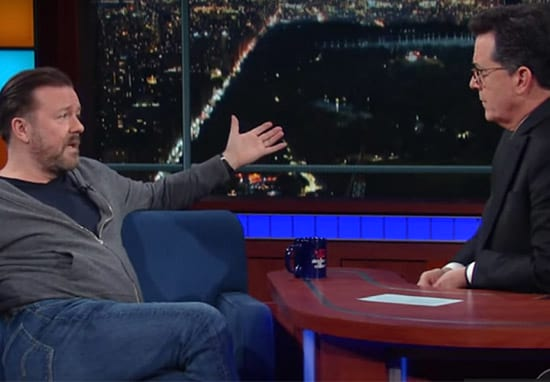 Ricky Gervais And Stephen Colbert's Debate About God Is Fascinating