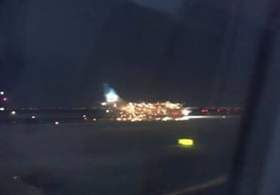 Plane Bursts Into Flames Moments Before Takeoff At New York Airport