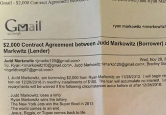 Guy Gives Brother A Loan In 2012, Doesn't Have To Pay It Back Thanks To Ridiculous Clause