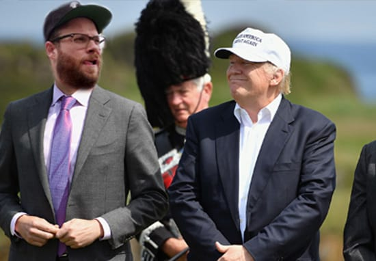 Seth Rogen Sends Hilarious DM To Donald Trump's Son