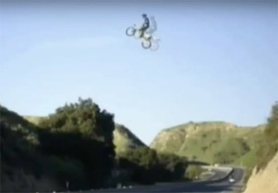 Police Are Searching For Guy Who Jumped LA Motorway On A Dirt Bike