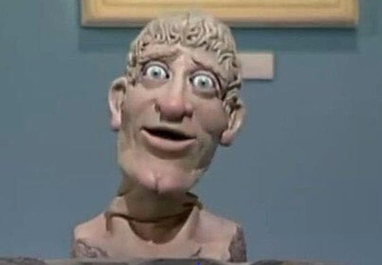 No One Noticed The X-Rated Message Carved Into The Head On Art Attack Until Now
