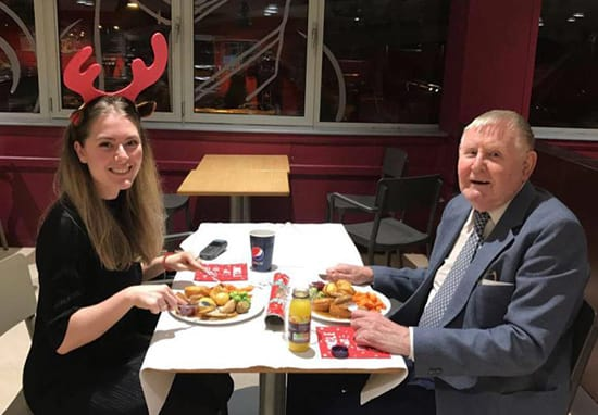 Sainsbury's Worker Has Dinner Date With Elderly Man After Finding Out He Has No Friends Or Family
