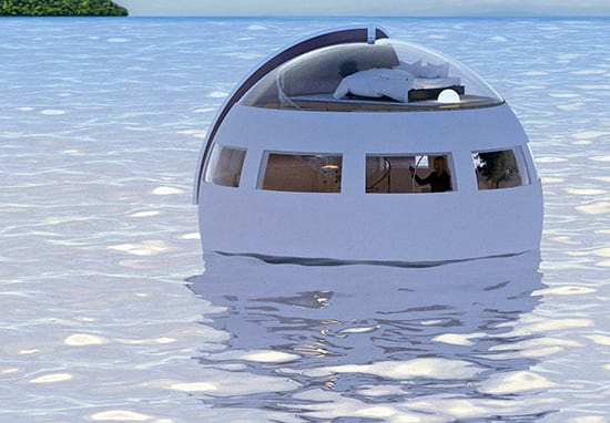 Floating Hotel Room Takes You To Desert Island As You Sleep