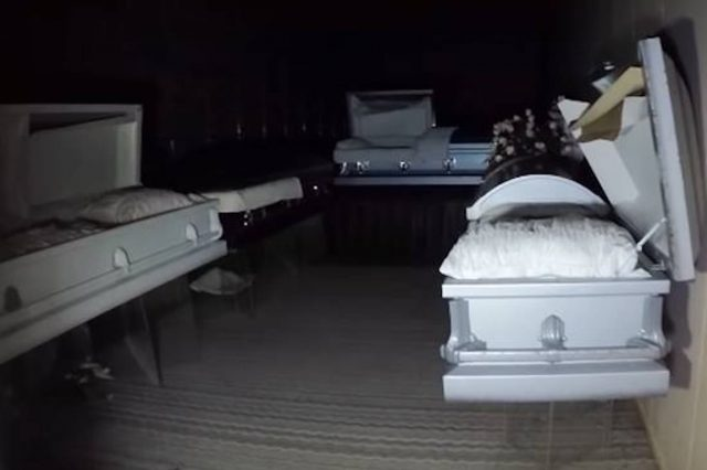 Man Makes Terrifying Discovery Inside Abandoned Funeral Home