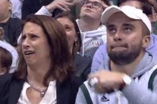 Kiss Cam Lands On Mother And Son And Things Got Awkward