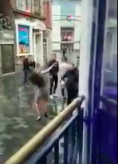 Bouncer Punches Woman In Face After She Tries To Attack Him bouncer4